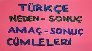 Türkçe Dersi - Neden Sonuç Ve Amaç Sonuç Cümleleri Konu Anlatımı | Canlı Ve Ayrı