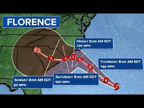 Powerful Hurricane Florence approaches East Coast