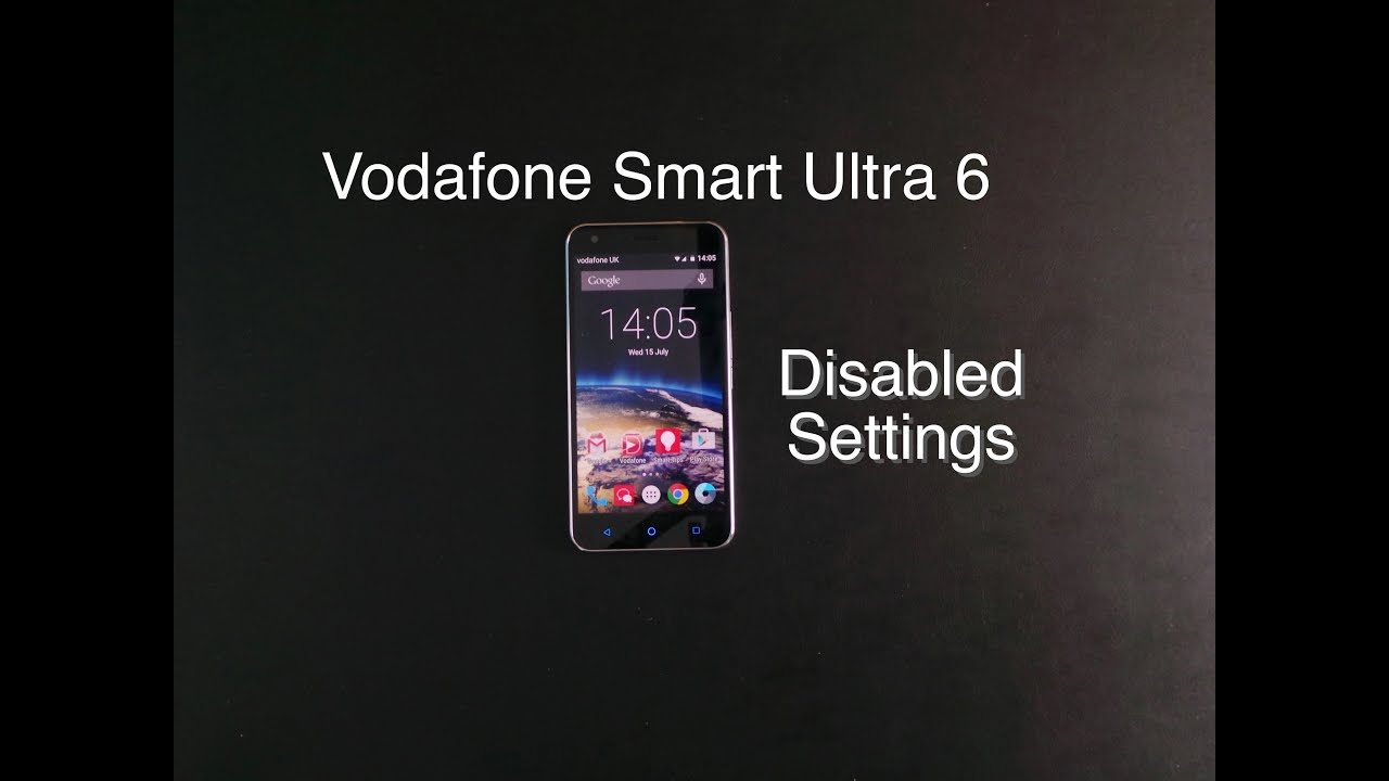 Vodafone smart ultra 6 disabled settings youtube vodafone smart ultra 6 disabled settings ccuart Images