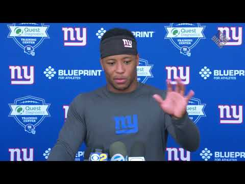 Saquon Barkley On Working with Jonathan Stewart  and the Vets