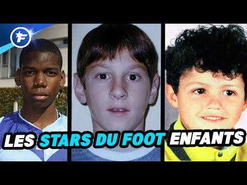 A quoi ressemblaient les STARS du foot plus jeunes ?