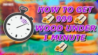 HOW TO GET 999 WOOD UNDER 1 MINUTE! Easy Guide (Fortnite Battle Royale)