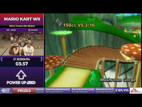 Mario Kart Wii by Jcool114 in 38:51 - SGDQ2017 - Part 99