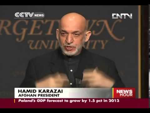 Karzai at Georgetown University Says Afghanistan slates election for 2014