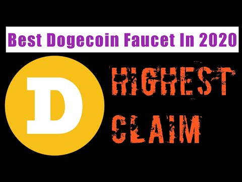 Highest Claim Dogecoin Faucet   Instant Payment Faucet Pay