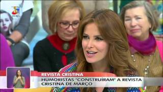 A pergunta de António Raminhos fez corar Cristina Ferreira