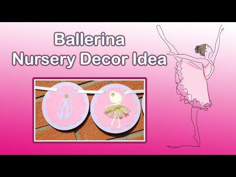 BABY NURSERY DECORATING IDEAS! DIY BALLERINA NURSERY PAPER BANNER - CUSTOM NAME BANNER