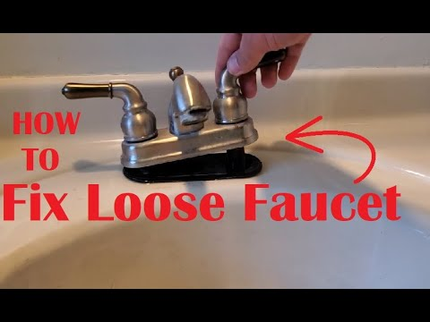 How To Fix Loose Sink Faucet Youtube