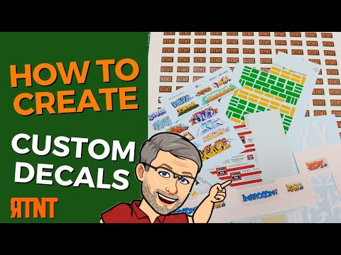 How To Make Custom Decals For Model Projects