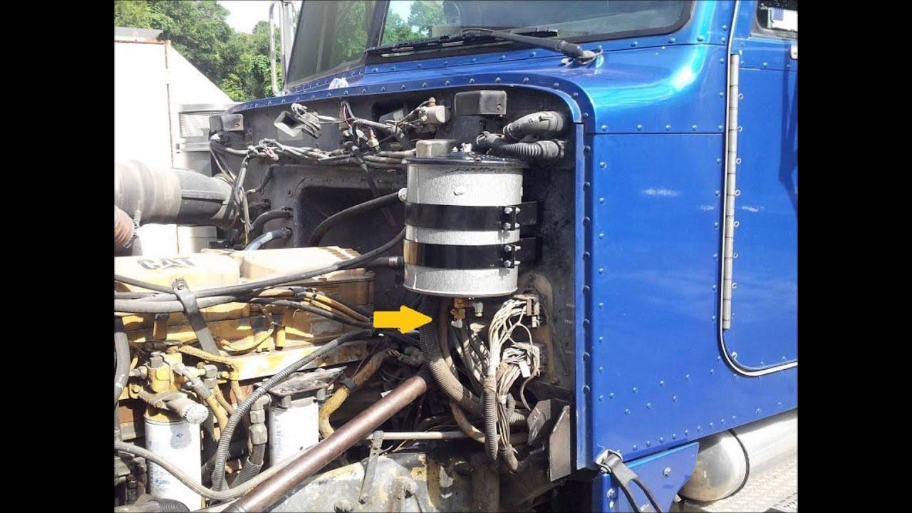 1999 Peterbilt truck with a Cat C12 engine bypass oil filtration system -  Everlast Refiner LLC
