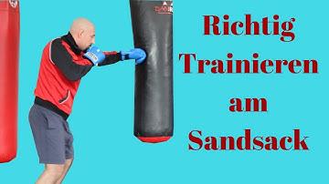 Trainieren am Sandsack für Kraft, Technik und Ausdauer