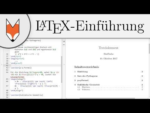LaTeX-Einführung 7 - Dokumentstruktur (Absätze, Kapitel, Inhaltsverzeichnis)