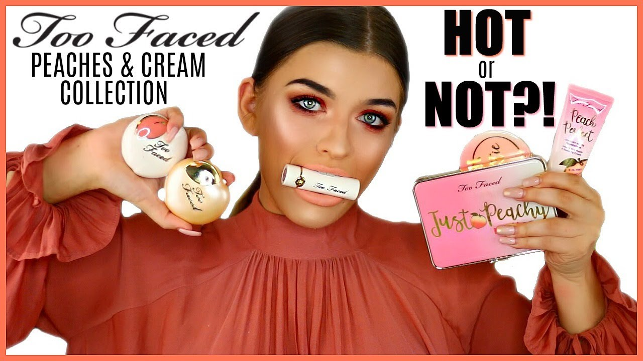 TOO FACED PEACHES AND CREAM COLLECTION | First Impressions & Review