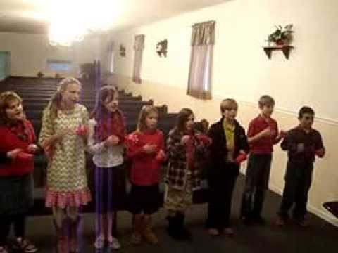 Upson Christian Academy singing Christmas songs