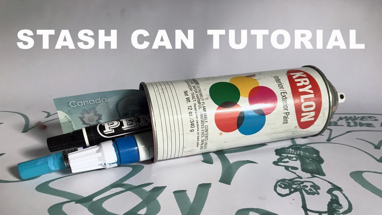How to Make a Stash Can From Vintage Krylon Can