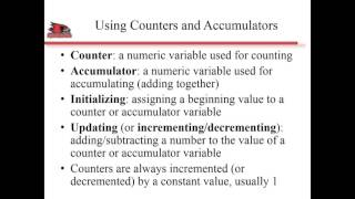 Lecture 6 Part 4 Counters and Accumulators