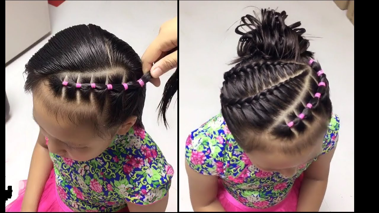 Beautiful Kids Hairstyles Cute Little Girl S Hairstyle Tutorial Part 5 Youtube
