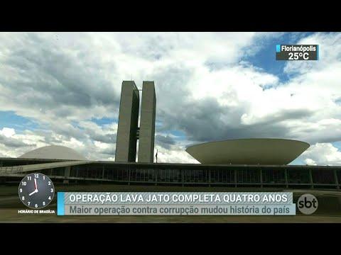 Saiba o que mudou em 4 anos desde o início da operação Lava Jato | SBT Brasil (17/03/18)