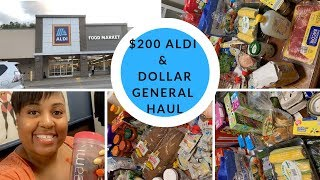 (TEAMI BLENDS) ALDI GROCERY SHOP WITH ME & GROCERY HAUL + DOLLAR GENERAL 70% OFF SALE
