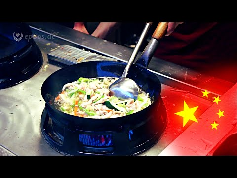 Cooking fried Food in the Chinese Wok.