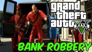 GTA 5 ::Bank Robbery & Cop Chase Gameplay! (Grand Theft Auto 5 Gameplay)