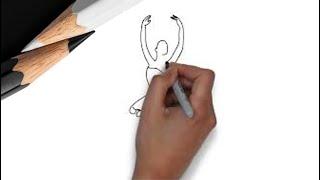 как нарисовать балерину видео