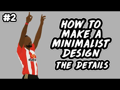 How To Make a Minimalist Design - The Details (Drawing Hands, Clothing & Shadows)