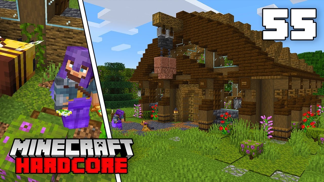 Minecraft Hardcore Let's Play - Fully Automatic Honey Comb Greenhouse!!!