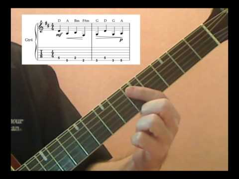 Canon in D Guitar Lesson - part1