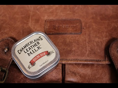"CHAMBERLAIN'S LEATHER MILK Part 3 ""Healing Balm"" BARBOUR Leather Briefcase Restoration"