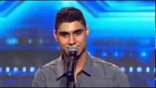 Emotiva audición de Emmanuel Kelly Factor X (Australia)  cantando IMAGINE