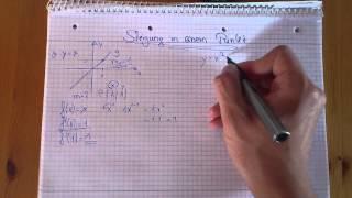 Mathe Nachhilfe: Steigung in einem Punkt berechnen -Steigung berechnen