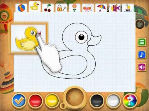 Образовательная игра для iPad Рисование и раскраска
