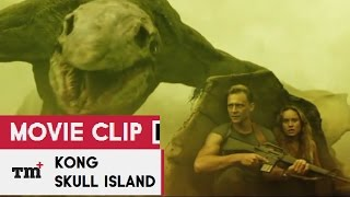 KONG : SKULL ISLAND Movie Clip - Skull Crawler Attack 2017 - Tom Hiddleston Monster Movie HD