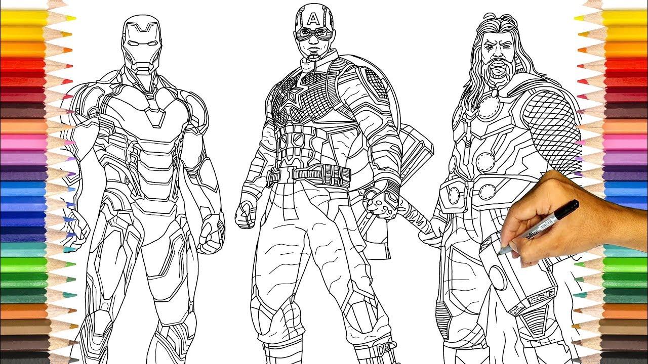 AVENGERS Endgame Original Three | Iron-man, Captain ...