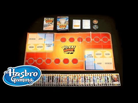 How To Play Yo Kai Watch Trading Card Game Hasbro Gaming Youtube