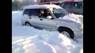 Субару форестер (снег)