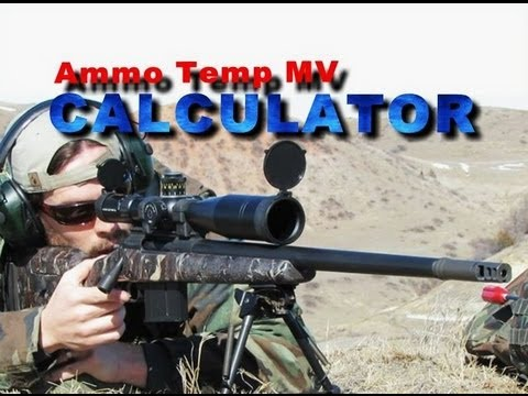 SNIPER 101 Part 59 - Ballistics Tables - Muzzle Velocity Variation (2/2)
