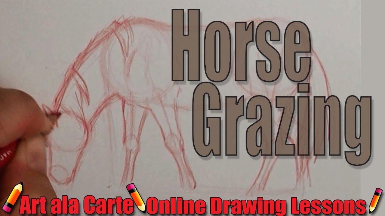 how to draw a horse art ala carte