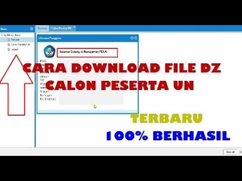 Cara Download File Dz Atau Login Ke Pdun 2018 Tutorial Lengkap