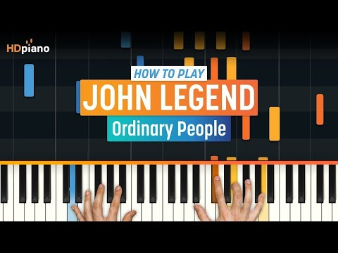 "How To Play ""Ordinary People (Updated)"" by John Legend 