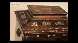 Hygra-632jb: Antique Rosewood Table Cabinet With Mother Of Pearl Inlay Circa 1835