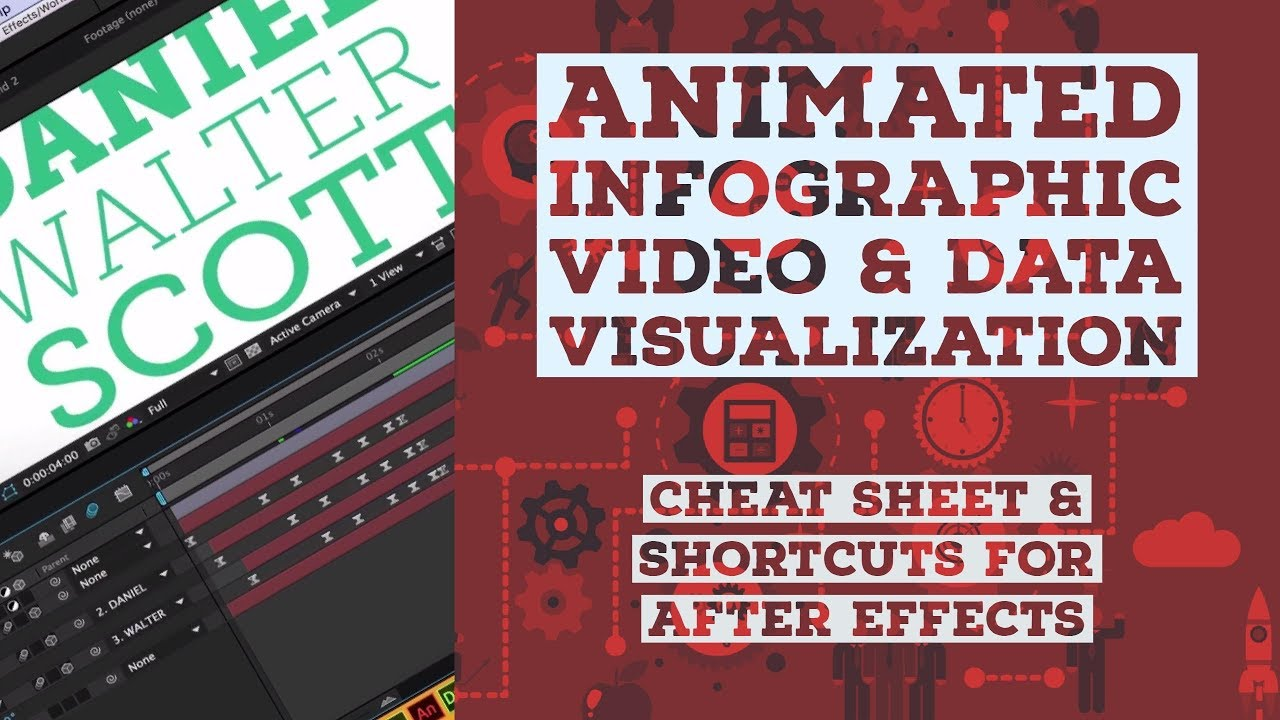 Cheat sheet & shortcuts for After Effects - Animated Infographic Tutorial [48/48]
