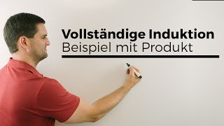Vollständige Induktion, Beispiel mit Produkt, Mathehilfe online, Analysis | Mathe by Daniel Jung