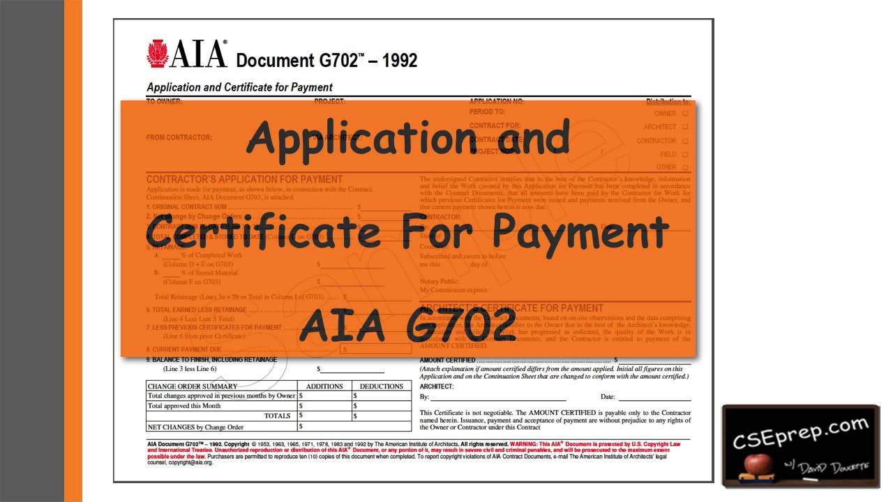 Video tip 18 california supplemental exam g702 application video tip 18 california supplemental exam g702 application and certificate for payment yadclub Gallery