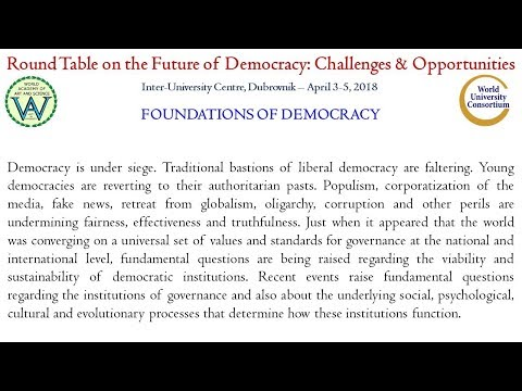 Round table on the Future of Democracy: Challenges