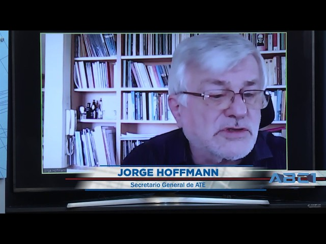 Adelanto de nota a Jorge Hoffmann,  secretario general de ATE - ABC1 12 07 2020