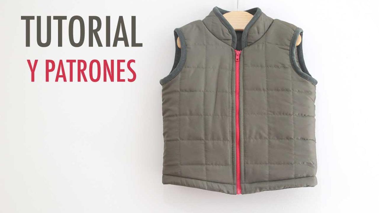 DIY Costura: Chalecos para niños (patrones gratis) - YouTube