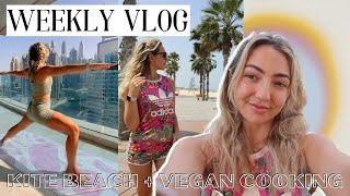 Living in Dubai vlog: Vaccination, Kite Beach Breakfast, lots of vegan cooking