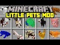 Minecraft LITTLE PETS MOD! | PET HAMSTERS, HEDGEHOGS, FERRETS, FROGS! | Modded Mini-Game #Minecraft
